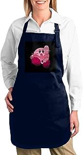 ANZIKEJI Kirby Silhouette Super Smash Bros Heavy Duty Canvas Work Apron,Tool Pockets, Back Straps Adjustable