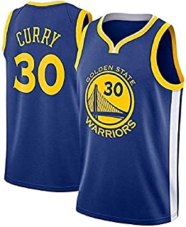 67b50091008db runvian Maillot de Basket pour Hommes -NBA Stephen Curry #30 Golden State  Warriors Jersey