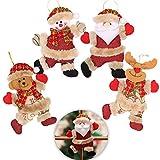 Schneespitze 4 Piezas Adornos navideños,Accesorios para Árboles De Navidad...