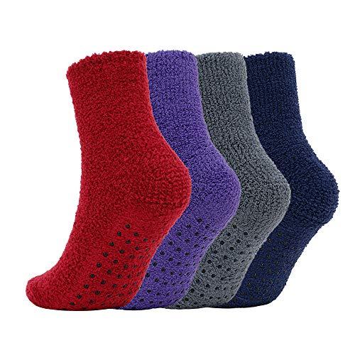 Burklett Adult Indoors Anti-Skid Winter Slipper Socks