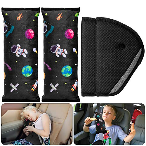 4Pack Seatbelt Pillow Car Seat Belt Covers, Universe Cartoon Pattern Adjust Vehicle Shoulder Pads...