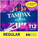 4-Pack Tampax Radiant Plastic Tampons