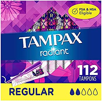 4-Pack Tampax Radiant Plastic Tampons