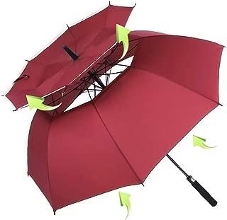 Windproof Golf Umbrella, 62/68 inch Large Umbrella for Rain Double Canopy Automatic Open Vented Stick Umbrellas