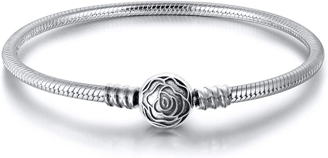 Ranking TOP3 JIAYIQI Charm Bracelet Fit Charms Chai Silver Snake Bombing free shipping Sterling 925