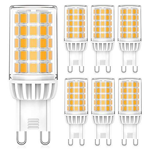 Eco.Luma G9 LED Lampen Dimmbar Warmweiß 2700K, 5W ersatz für Halogenlampe G9 40W 50W 500LM, AC 230V G9 Mini Glühlampe, Kein Flackern, 6er Pack