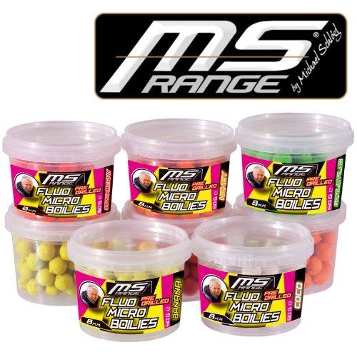 MS-Range by Michael Schlögl Fluo Micro Boilies 10mm Garlic Plus 2531537 Boilie