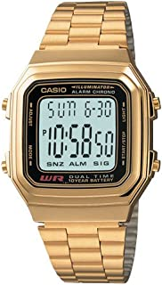 Casio A178WGA-1A Gold Tone Retro Stainless Steel Unisex Digital Watch