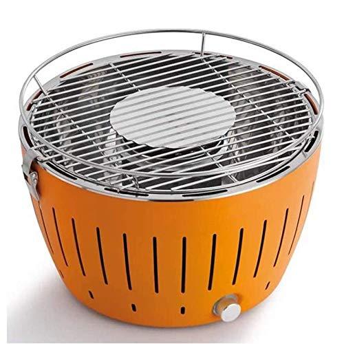 TYUIOO Smokeless Barbecue Grill, tragbarer Kohlegrill, Removable Schneller Heizung Iron Grill Ständer, Reisetasche for Picknick im Freien Garten