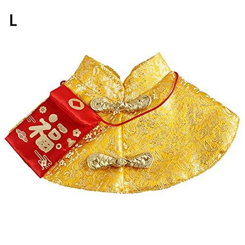 Sue-Supply Huisdier Nieuwe Jaren Kostuum Kat Chinese Tang Dynastie Jurk Hond Warm Feestelijke Kleding voor Kleine Huisdieren Honden Katten
