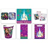 Disney Frozen Party Supply Pack For 16 Guests which Includes Invitations, Plates, Napkins, Cups, Table Cover, Favor/Treat Bags and Thank You Postcards by Disney