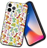 Shockproof Case Compatible with iPhone 12 Series,Baby Loving Cute Dangerous Happy Dinasours in Rainbow Colored Nursery Kids,No-Slip Material with Soft TPU Bumper Phone Case for iPhone 12 Pro-6.1 Inch