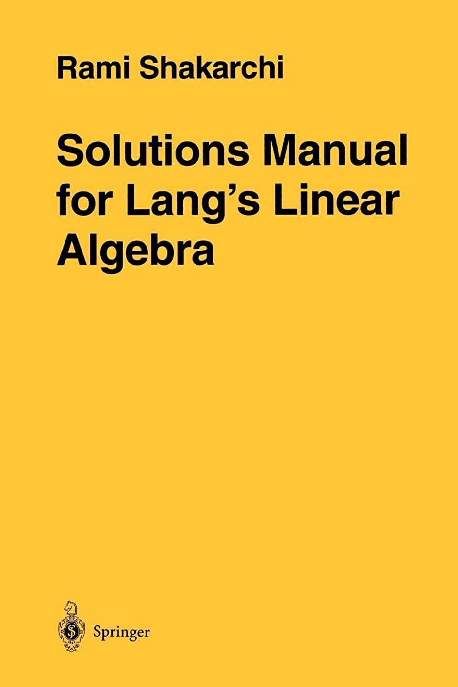 枠ヒューマニスティック先例Solutions Manual for Lang's Linear Algebra