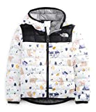 The North Face Toddler ThermoBall Eco Hoodie, TNF White Camping Friends Print, 3T