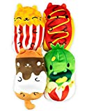 Cats vs Pickles - Foodie Collection #2 - Frankie, Buttery, S'Mores, & Carl - 4-Pack - 4' Cute Cuddly...