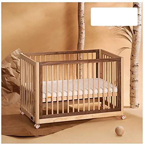 Angelhjq Cuna de Madera 3 en 1 Cama Convertible de Cuna para bebés Puede moverse -converts en una Cama Junior y sofá Cama (Pino) 1250 * 698 * 846mm