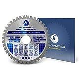 FALKENWALD ® Hoja de sierra para amoladora angular de 125 mm, ideal para madera, aluminio y plásticos, hoja de sierra para Flex – Disco de corte universal madera 125 x 22,23 mm