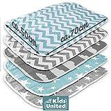 Materassino per fasciatoio, per neonati e bambini, traspirante, lavabile, riutilizzabile, 50 x 70 cm (set da 5)