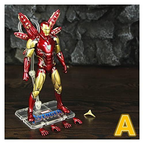 """Figura Juguete Iron Man MK85 7""""Figura de acción Ironman Mark 85 Nano Armas Tony Stark Legends Toys Endgame Modelo Modelo Figura Juguete (Color : A Loose)"""