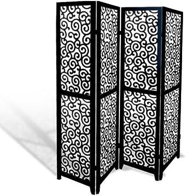 Amazon.com: 3 Panel Solid Wood Screen Room Divider, Walnut ...