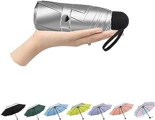 Compact Travel Umbrella Windproof UV Umbrella Lightweight Mini Travel Umbrella, Black (Black) - XUM-001