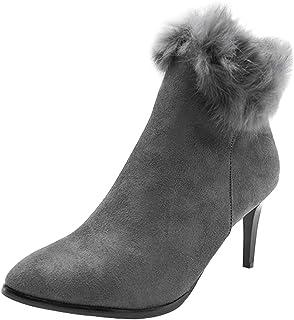 cca6ae97 Yudesun Zapatos de Tacón Botas de Nieve Mujer - Elegantes Invierno Casual  Cálido CómodoTacón Alto Zapatos