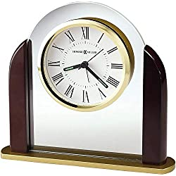 Howard Miller Derrick Table Clock 645-602 – Modern Glass Arch Home Decor with Quartz Alarm Movement