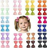 40 Stück 5,1 cm große Ripsband-Haarschleifen, Krokodilklemmen, Baby-Haarspangen, Haar-Accessoires für Kinder, Kleinkinder, Neugeborene