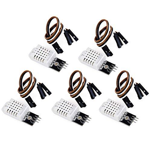 DollaTek 5Pcs DHT22/AM2302 Digital Temperature and Humidity Sensor Module Replace SHT11 SHT15