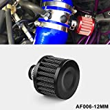 RYANSTAR 12mm Air Filter Cold Air Intake Filter Breather Turbo Vent Universal Air Intake F...