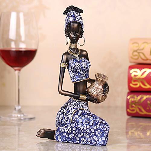 FAGavin Deko Dekoration Harz Dekoration Afrikanische Puppe Charakter Wohnzimmer Bücherregal/Weinschrank Display...