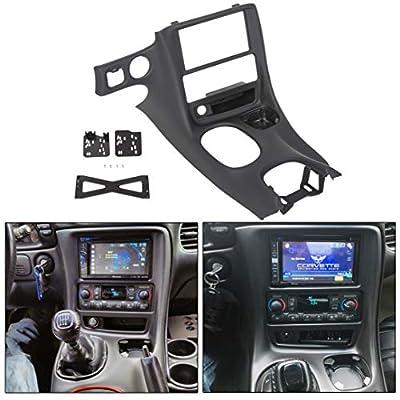 ECOTRIC Double Din Stereo Dash Installation Kit for 1997-2004 Chevrolet Corvette C5
