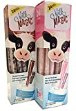 Strawberry & Chocolate Magic Milk Fun Straws 24 Each (2pk)