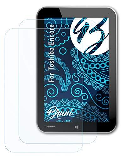 Bruni Schutzfolie kompatibel mit Toshiba Encore Folie, glasklare Bildschirmschutzfolie (2X)