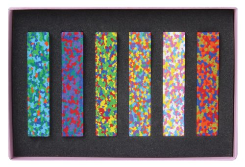 Aozora Dot Flowers Multi-Color Crayon Stick - Set of 6 (japan import)