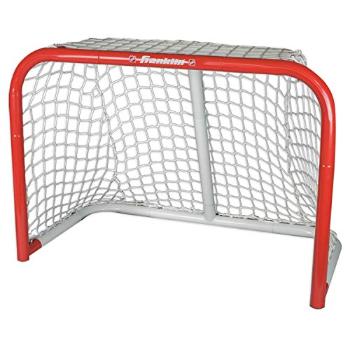 FRANKLIN - Mini Streethockey-Tor NHL Steel Goal I Outdoor-Tor I Mini Stahlrahmen-Tor I Garten Puck-Tor I Tor für Hockeybälle & Pucks I Streethockey-Training I Indoor-Tor I Lacrosse I Feldhockey - Rot
