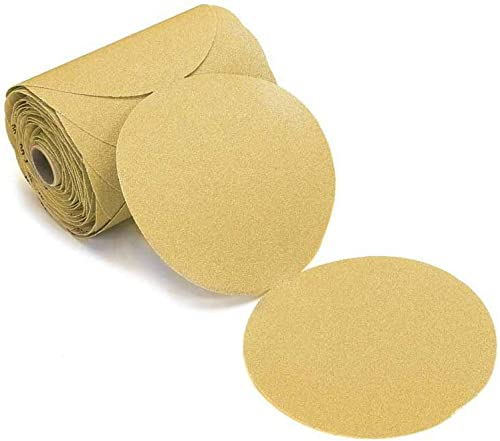"discount Mirka 23-342-120 Gold 6"" sale Sticky Back PSA Sanding Discs 120 Grit, 2021 100/Roll outlet online sale"