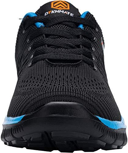 DYKHMATE Zapatillas de Deportes Hombre Ligero Transpirable Zapatos para Correr Gimnasio Casual Sneakers (Azul Negro,43 EU)