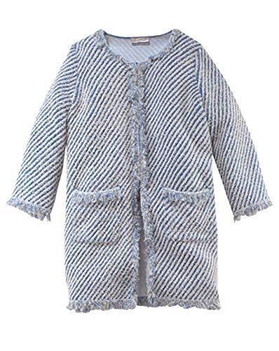 Stefanel Damen Mantel Soprabito Stuoia Jeans C/Tulle, Gr. Large, Mehrfarbig