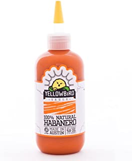 Habanero Hot Sauce by Yellowbird | Plant-Based, Gluten Free, Non-GMO | Homegrown in Austin | 9.8 oz