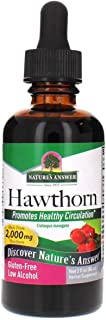 Nature's Answer Hawthorne Berry Herbal Extract Supplement with Organic Alcohol, 2-Fluid Ounces | Promotes Healthy Blood Ci...