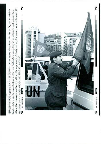 United Nations officer Rivest - Vintage Press Photo