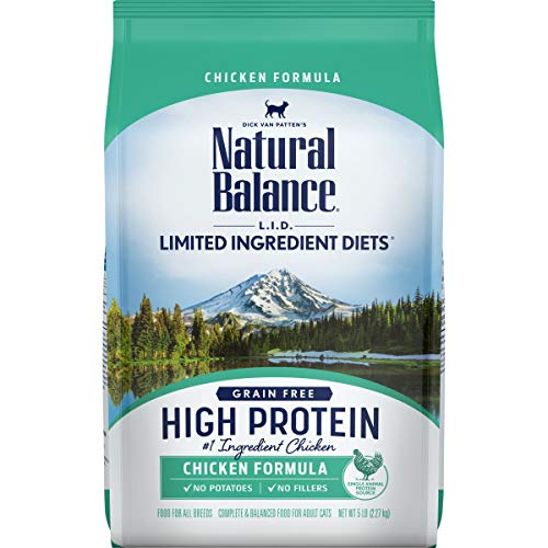 Natural Balance L.I.D. Limited Ingredient Diets High Protein Dry Cat Food For Adult Cats, Chicken Formula, 5-Pound