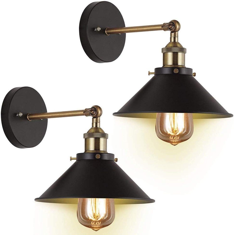 Tong Amerikanische kreative Retro Wandlampe 2 Stück Schlafzimmer Nachttisch Restaurant einstellbare drehbare Wandlampe