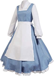 Beauty and The Beast Cosplay Costume Princess Belle Outfit Maid Dress Suit Ball Gowns