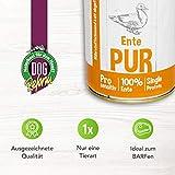 DOGREFORM Ente PUR 6 x 410 g Nassfutter auch für empfindliche bis sehr empfindliche Hunde getreidefrei glutenfrei geeignet zum BARFen - 2