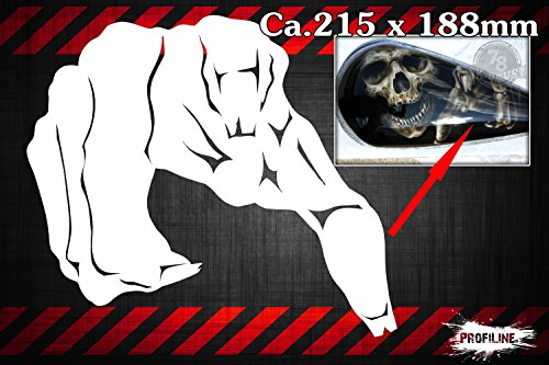 Skelett Hand Airbrush Schablone - Skeleton Hand Stencil