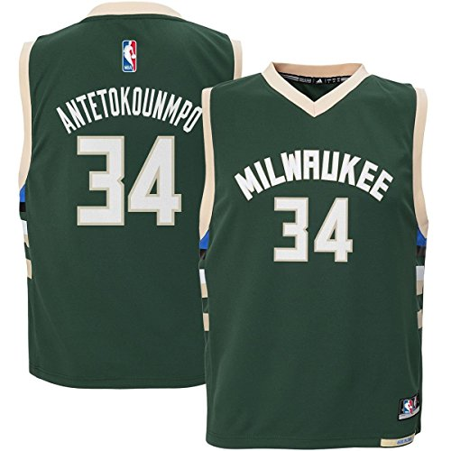 Outerstuff Giannis Antetokounmpo #34 Milwaukee Bucks Youth Road Jersey Green (Youth XLarge 18/20)