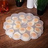 UPP® bandeja para huevos, con tapa I plato para servir huevos, espacio para 18 mitades...