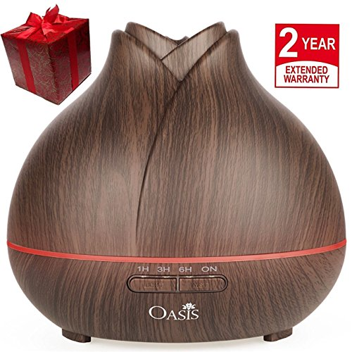 Best Price OASIS Essential Oil Diffuser (400ml) - Best Rated Aromatherapy Diffuser - Cool Mist Humid...